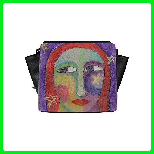 InterestPrint Custom Satchel Bag Stars Abstract Painting On Satchel Handbag For Women - Top handle bags (*Amazon Partner-Link)