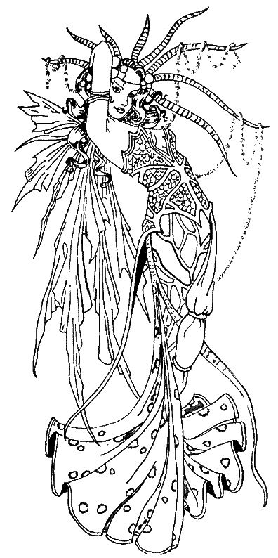 amy brown fairies coloring pages - Free Gothic Fairy Coloring Pages