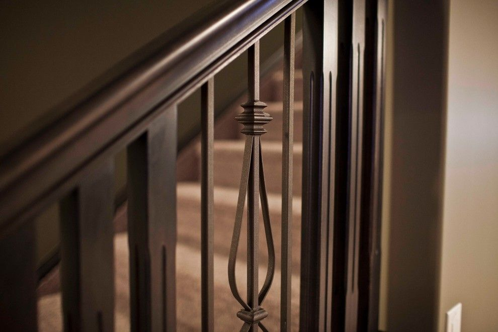 Best Baroque Stair Railing Designs In Basement Contemporary 400 x 300