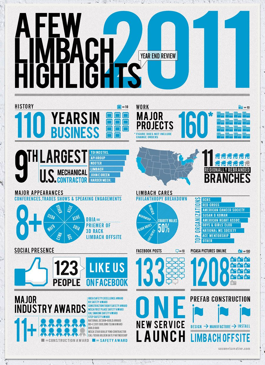 limbach year in review infographic infographics pinterest