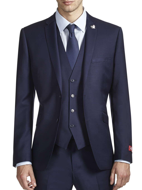 aa84fcdcc 3 Piece Lambretta Navy Slim Fit Suit Jacket | Men's suits | Navy ...