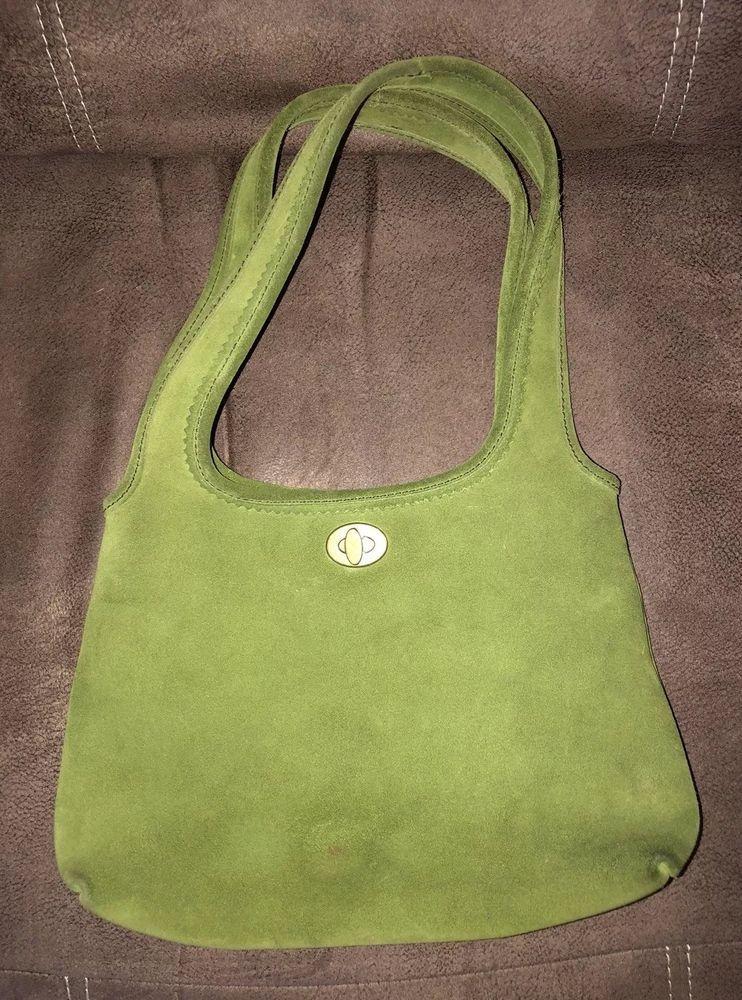 047306b25 Vintage Miu Miu Suede Leather Green Shoulder Bag   eBay   ebay ...