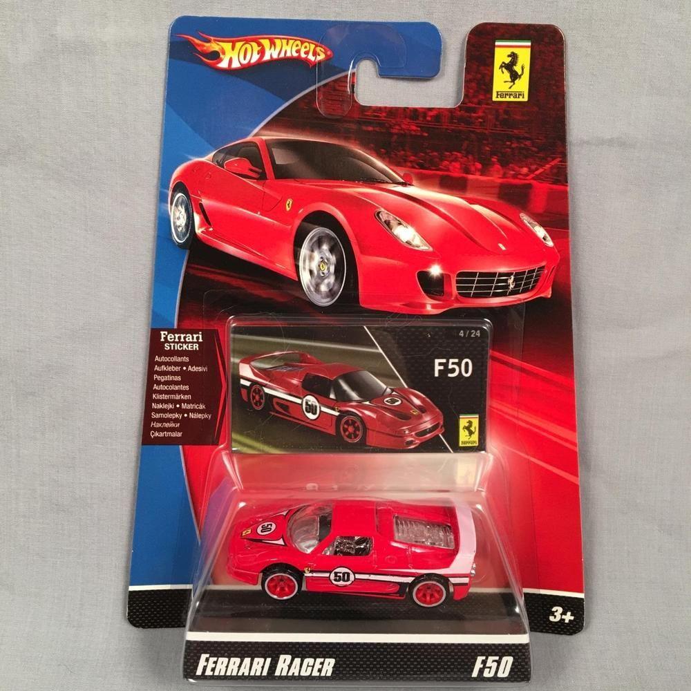 F50 Race Hard Top Red: Hot Wheels Ferrari Racers F50 Red #50 VHTF Sticker Card