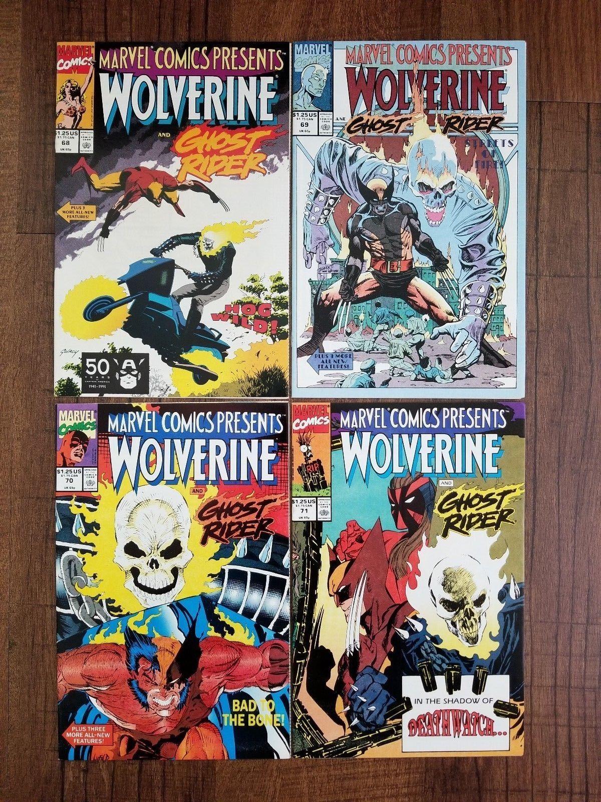Marvel Comics Presents Wolverine And Ghost Rider #68 #69 #70