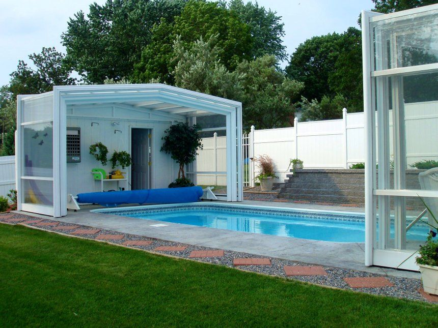 Screened In Inground Pool Enclosure Kits Retractable Swimming Enclosures Gl For Infoor Commercial Arc Pool Enclosures Swimming Pool Enclosures Residential Pool