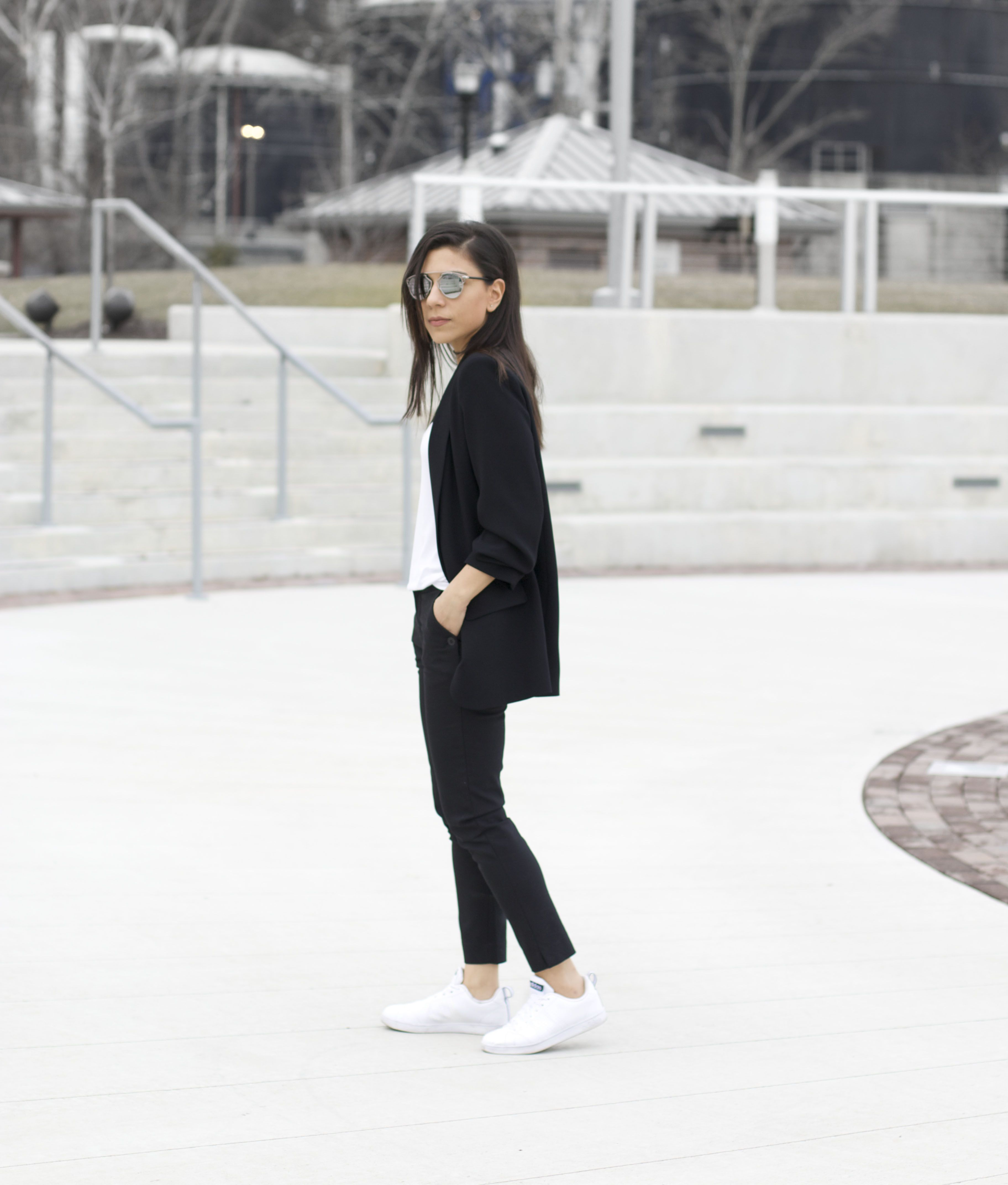 Suit with Adidas Sneakers   Fashion