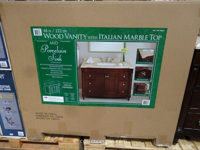 Lanza Products 48 Inch Single Sink Wood Vanity Costco 4