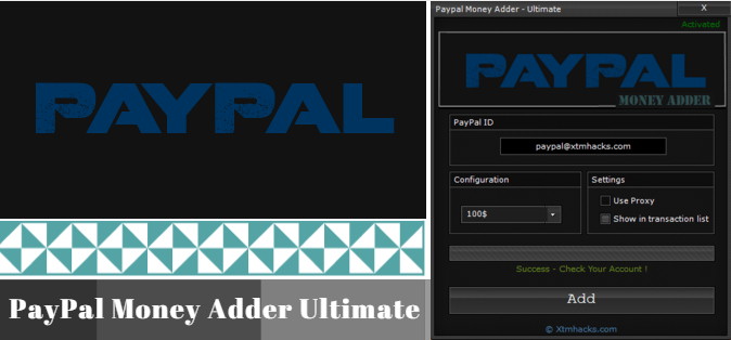 PayPal Money Adder Ultimate or PayPal Hack | added 2 | Paypal money