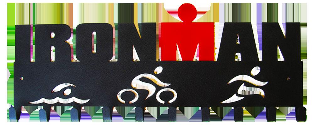 ironman triathlon swim bike run black amp red 10 hook medal