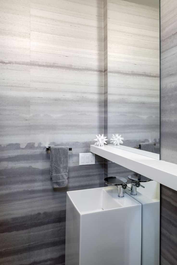 Design/Build by Vanillawood | Modern | Contemporary | Bathroom | Wallpaper