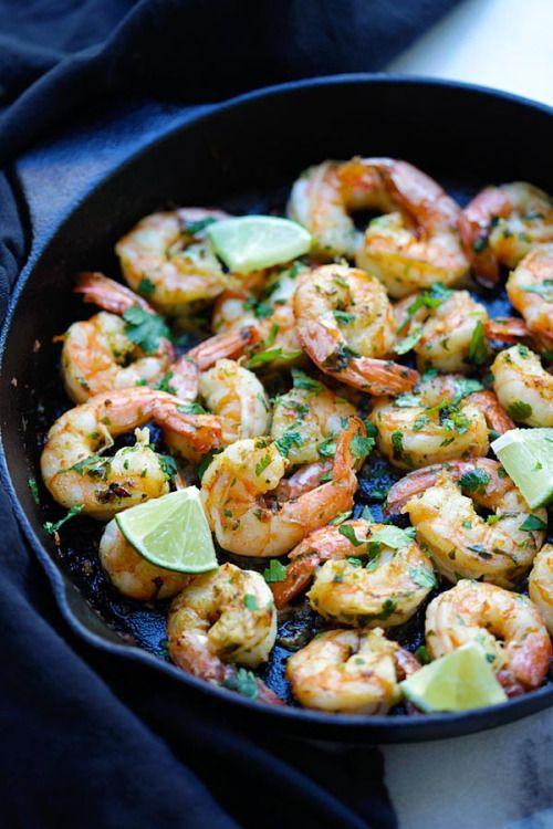 Cilantro Lime Shrimp Really nice recipes. Every hour. Show me  Mein Blog: Alles rund um die Themen Genuss & Geschmack  Kochen Backen Braten Vorspeisen Hauptgerichte und Desserts # Hashtag