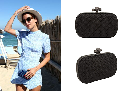 Pair a chic playsuit with a Bottega Veneta for day!  http://bobags.com.br/aluguel-de-bolsas/clutch-bottega-veneta.html #bottega #adorobobags #alugueldebolsas #bagrental #clutch #alugueclutch