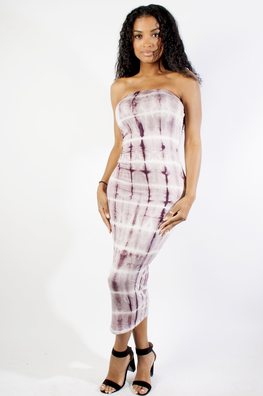 Tie Dye Tube Maxi Dress