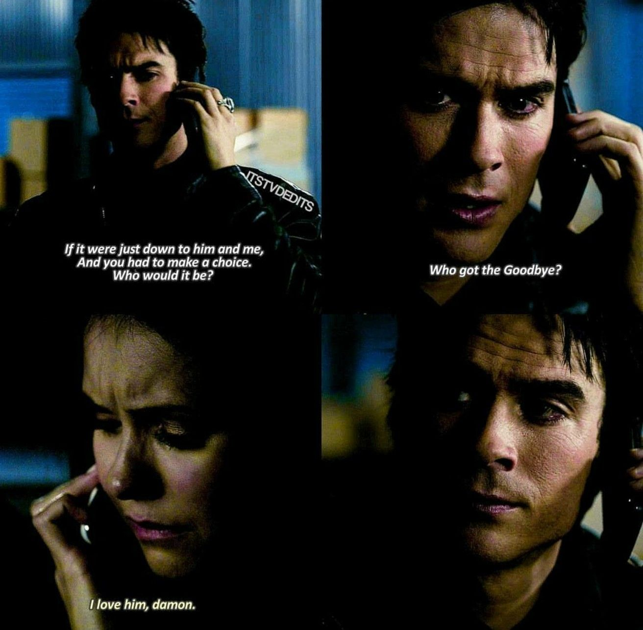 Poor Damon, he's thinks he's about to die and he's still ...