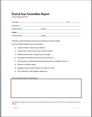 End Of Year Committee Chair Reports Will Help You Make Changes
