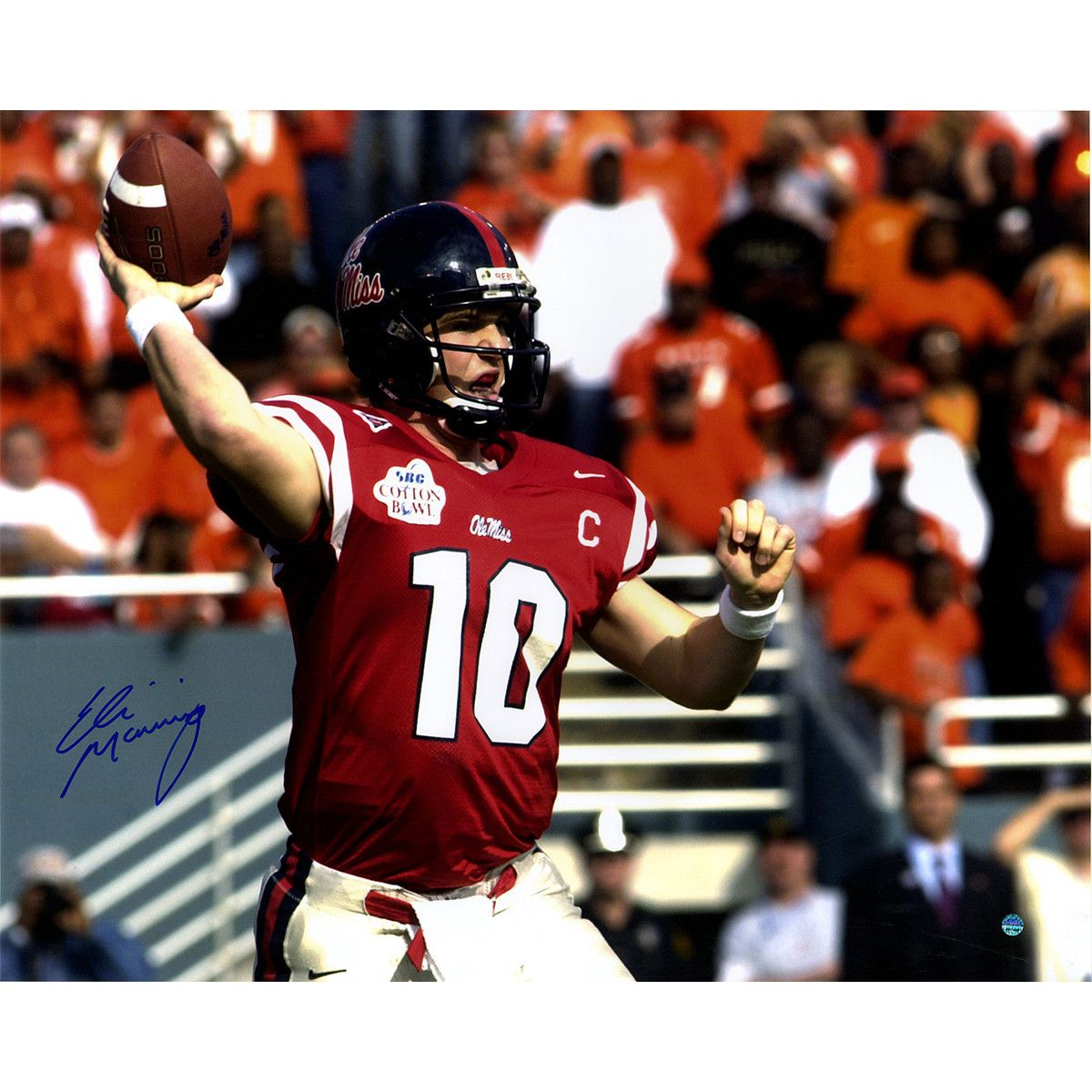 release date: 57969 e487e ELI MANNING Signed Ole Miss Red Jersey 16x20 Photo STEINER ...