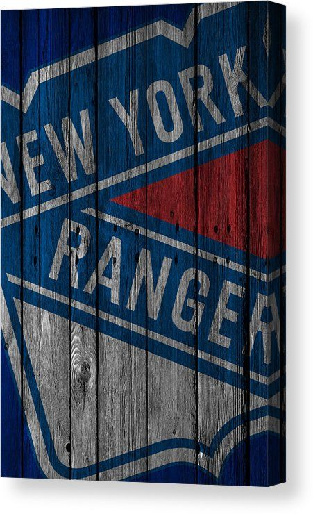 New York Rangers Wood Fence Canvas Print / Canvas Art by