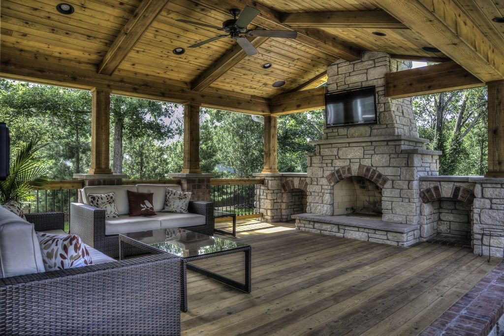 covered deck with fireplace covered deck home is where my heart rh pinterest com Covered Deck with Outdoor Gas Fireplace Small Covered Deck