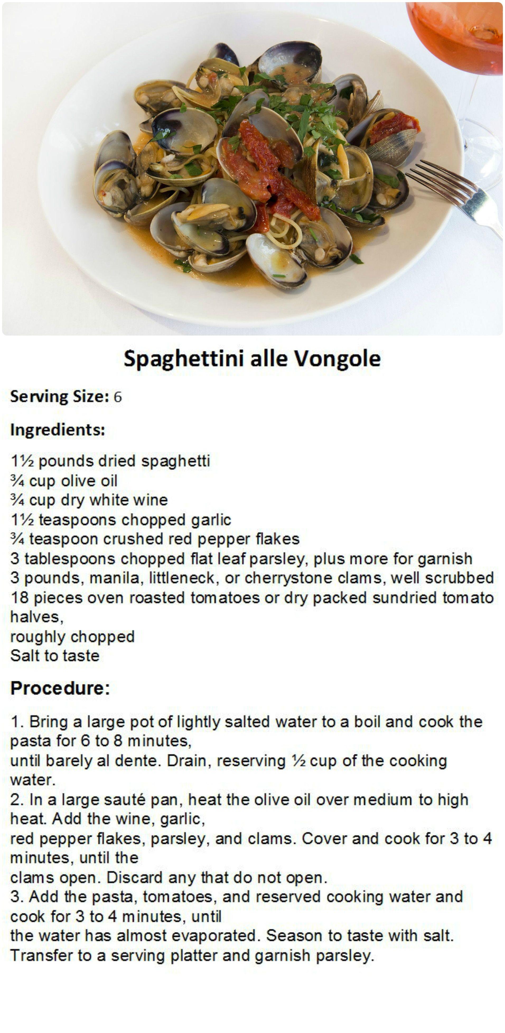 Scotto Family Recipe: Spaghettini Alle Vongole
