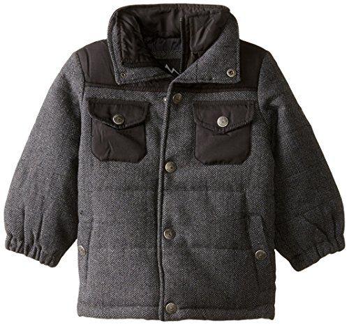 London Fog Boys Faux Wool Coat with Vestee