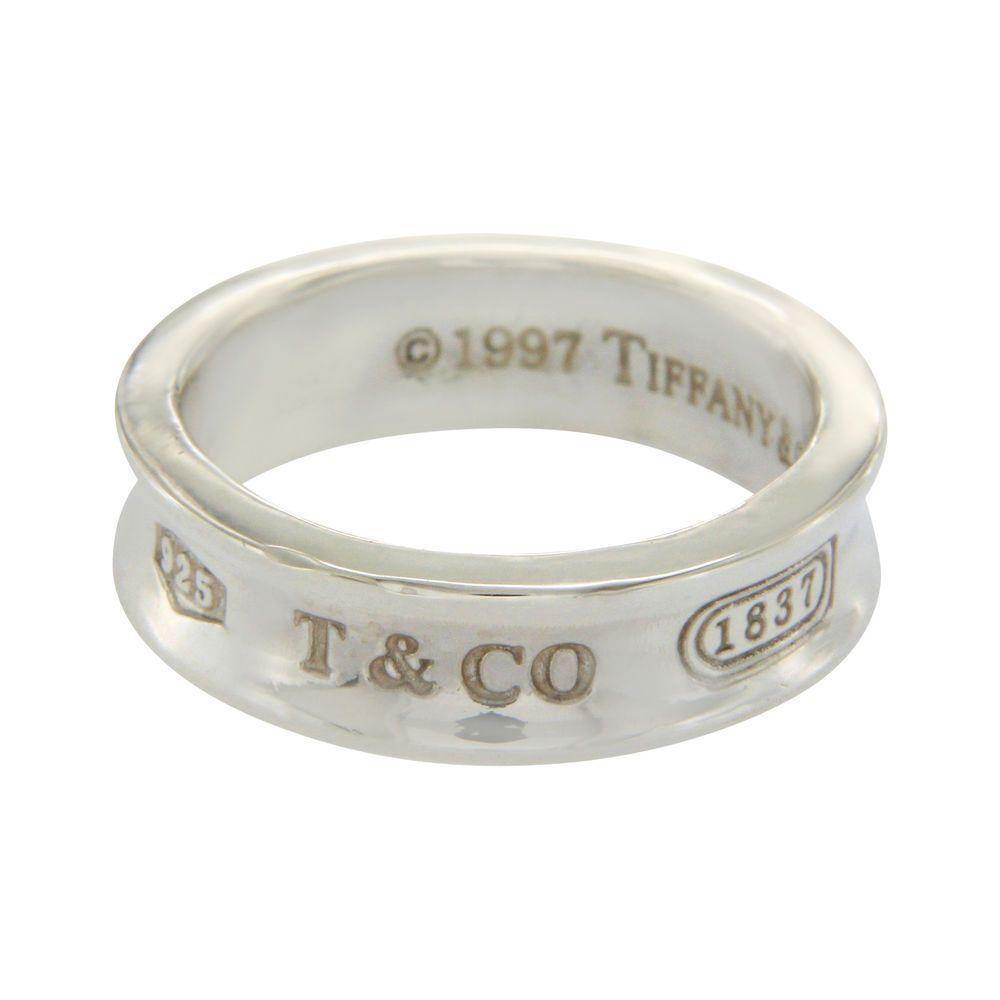 Au Tiffany Co 925 Sterling Silver 1837 Wedding 6 5 Mm Band Ring Size 9 U29 Tiffanyco Band Ring Size Band Rings Rings