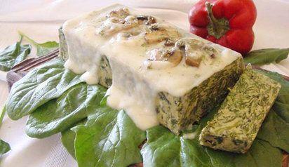 Disfruta de los flanes salados Spinach flan