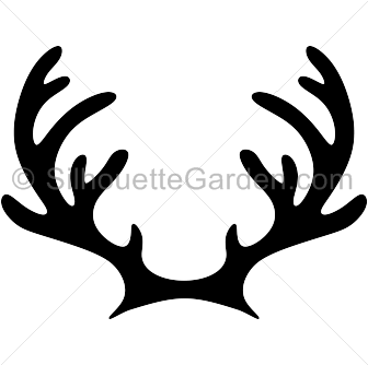 reindeer antlers silhouette clip art download free versions of the rh pinterest com  reindeer antlers clipart