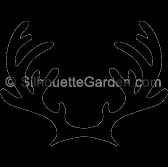 Reindeer Antlers Silhouette Clip Art Download Free