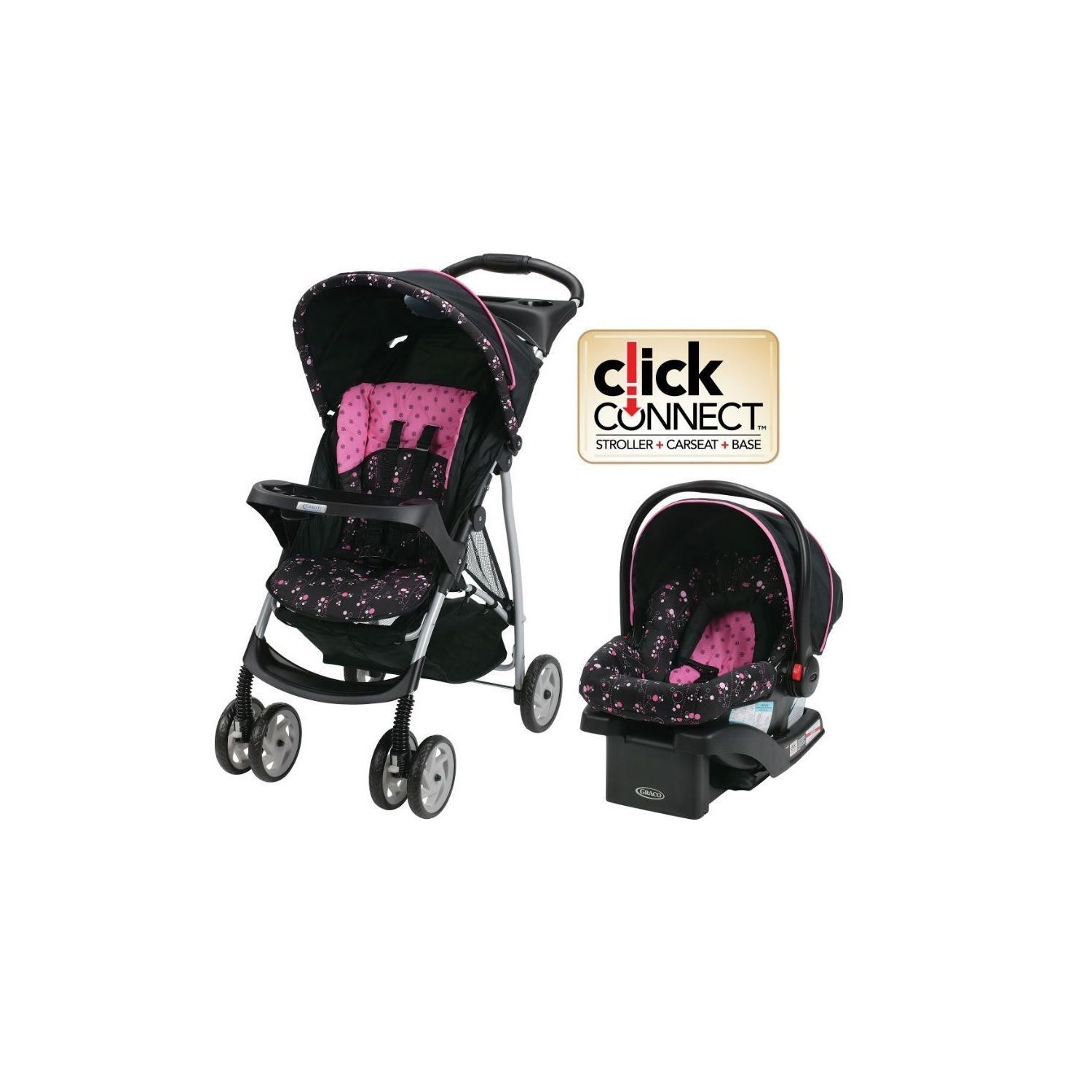 Graco Baby Stroller Car Seat Travel System Infant Toddler Pink Product Description With This And You