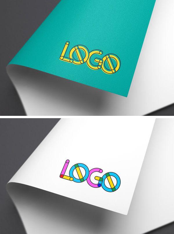 Full Color Logo Mockup Freebies Display Free Graphic Design Logo Mockup Presentation Psd Resource Showcase Template Paper Logo Free Logo Mockup Logo Mockup