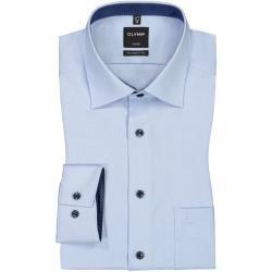 Luxor Modern Fit, Oberhemd mit Brusttasche, Extra langer Arm von Olymp in Hellblau für Herren Olymp