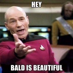 7c90d9c25538436629bbf61e5dc7b891 bald men from star trek meme generator hair and no hair