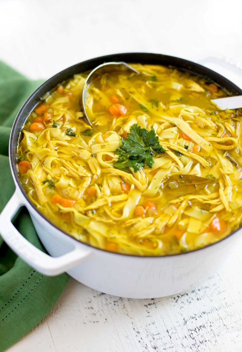 Homemade Chicken Noodle Soup Recipe Chicken soup
