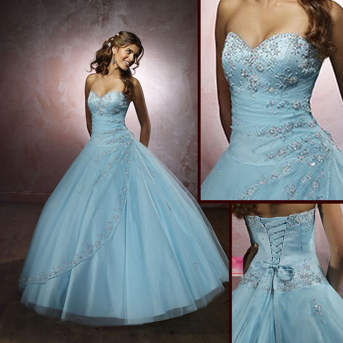 They should have used this for Cinderella\'s dress but with sparkle ...
