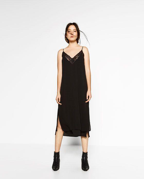 3f1be491 Billede 1 af LANG KJOLE MED UNDERKJOLE LOOK fra Zara | Dress ...