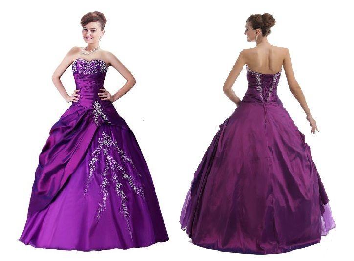 cheap-purple-disney-princess-ball-gown-prom-dresses-under-dollars ...