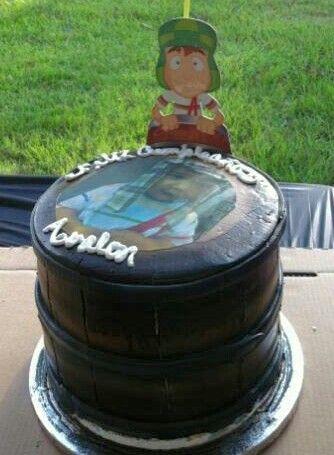 Pastel en forma de barril