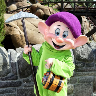 themainstreetmouse.com | Dopey Stopped By To Visit The Seven Dwarfs Mine Train » The Main ...