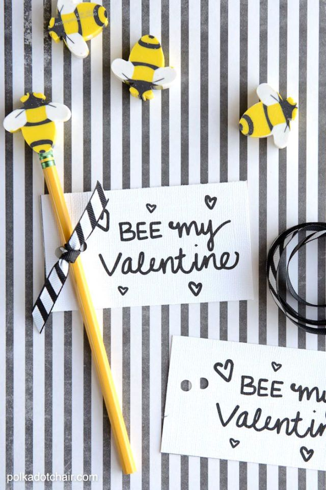 """Your friend won't """"beelieve"""" how thoughtful you are when you gift her these bee-themed cards and pencils."""