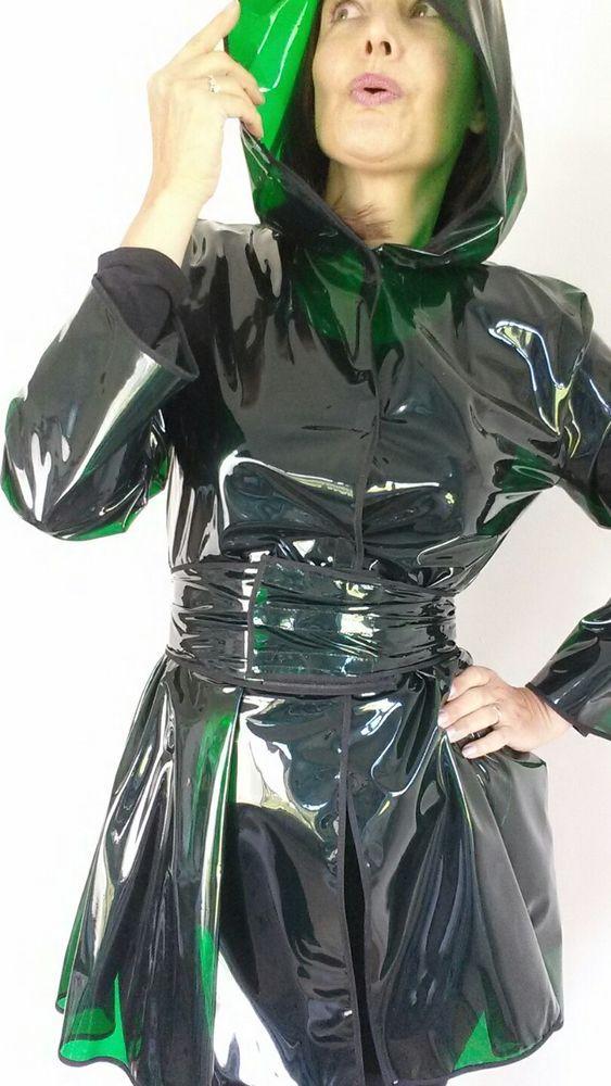 Fetish fashion pvc vinyl plastic