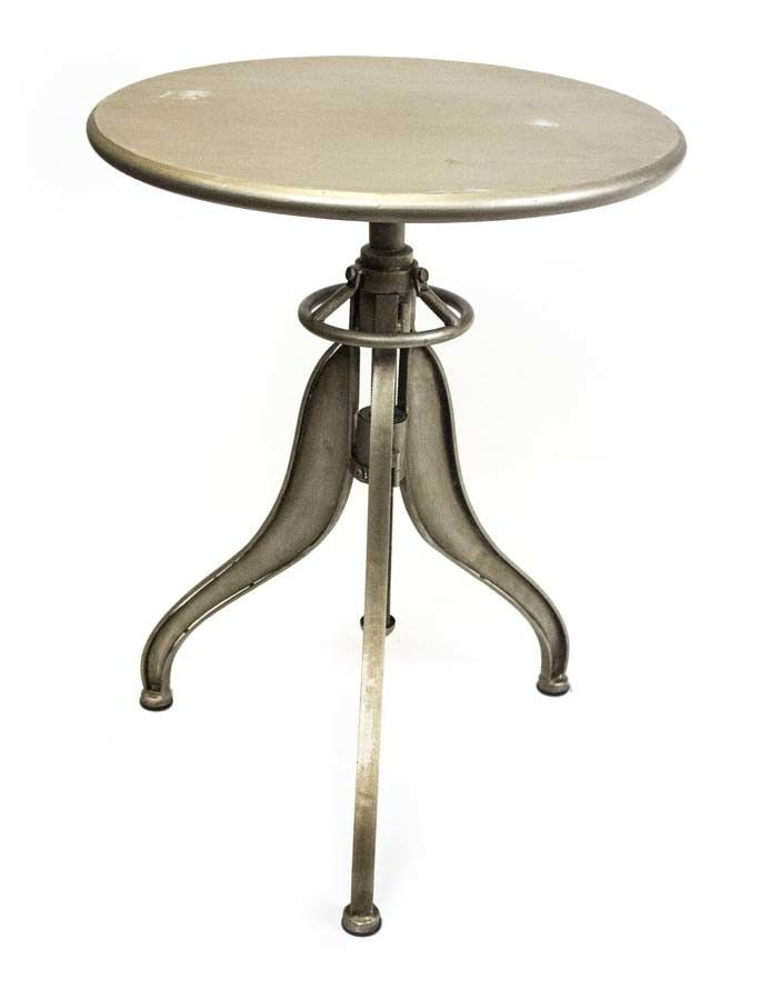 Metal Tripod End Table