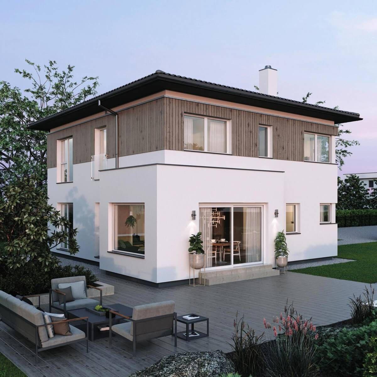 Moderne Landhaus Stadtvilla Neubau mit Walmdach