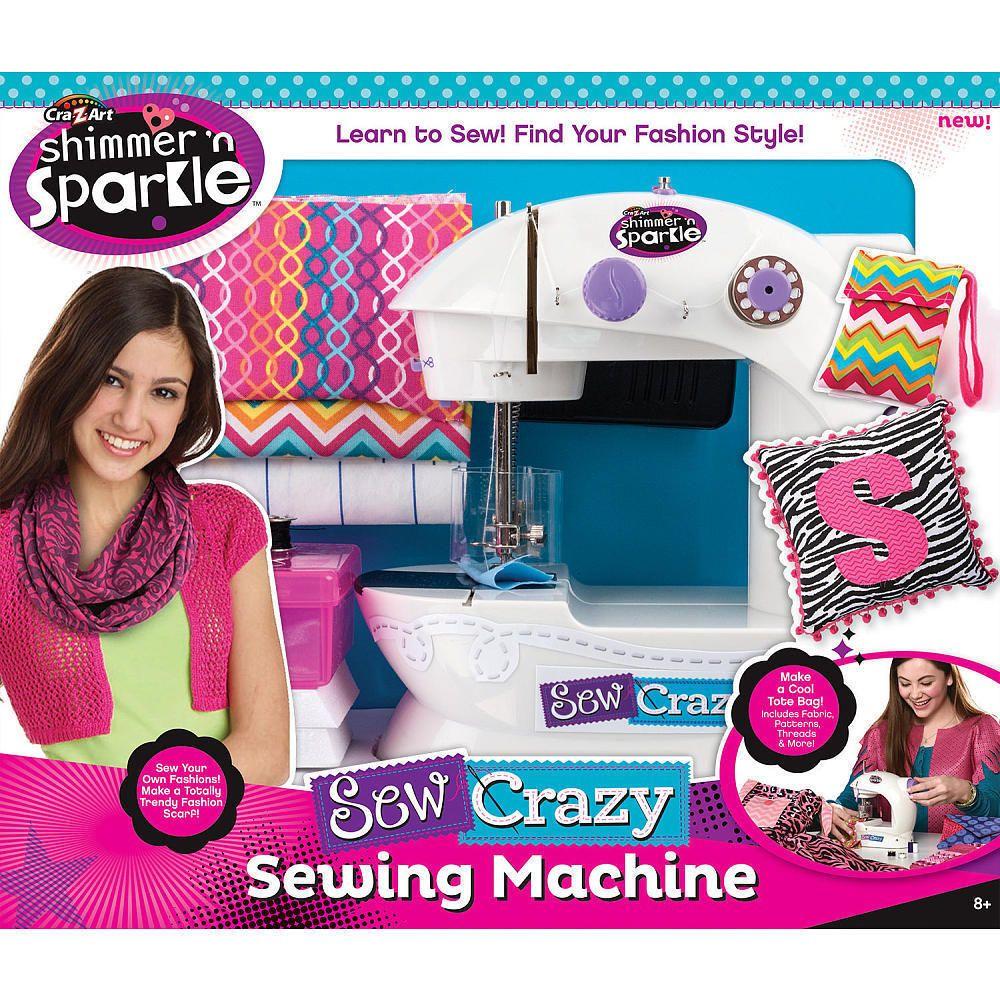 shimmer sparkle crazy sew symaskin sewing machine kits craft cra crazart