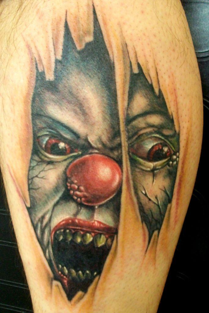 Ripped Skin 3d Joker Face Tattoo Cool Tattoos Tattoos 3d