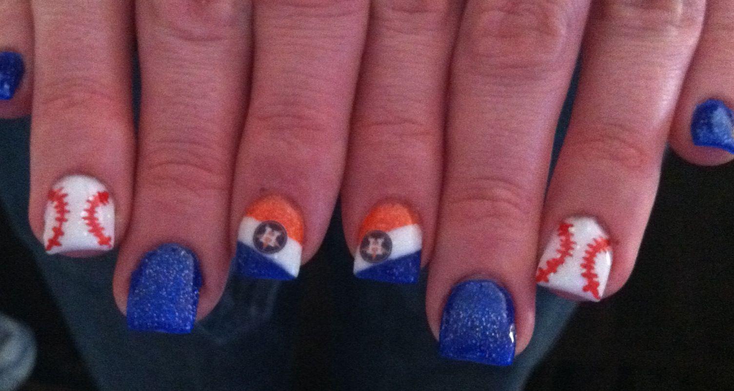 Houston Astros Nails Baseball Pinterest Pedicures Gray