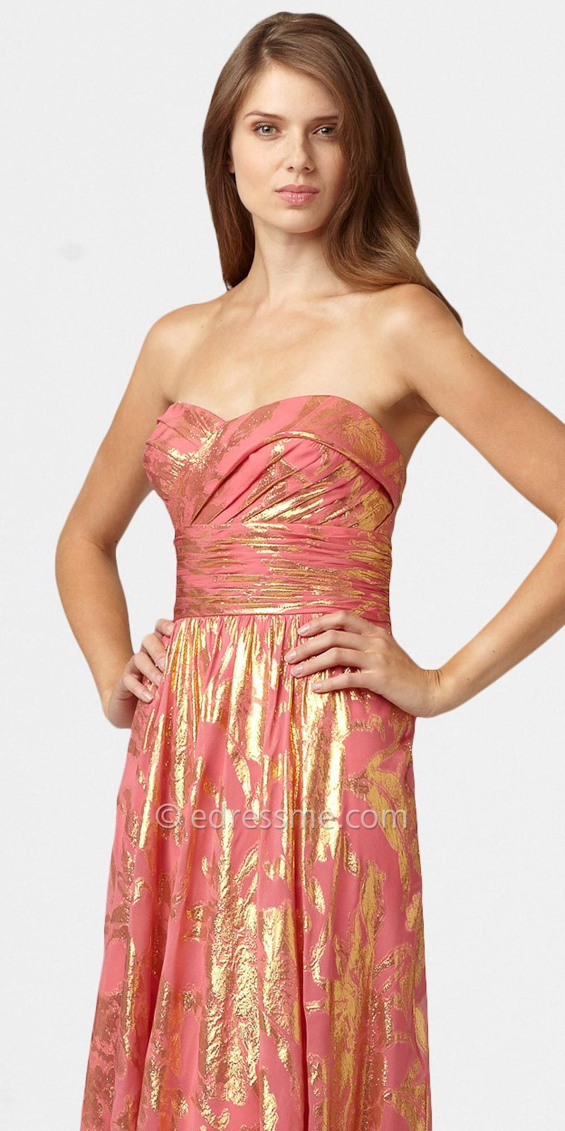 Classic Prom Dresses with Foil Prints by Aidan Mattox at eDressMe ...