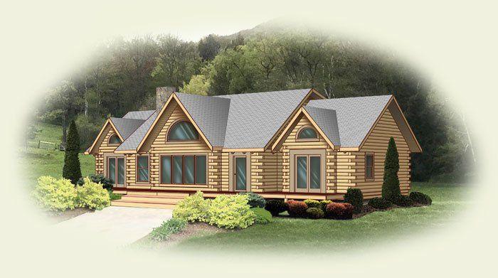 Richmond Log Home Floor Plan