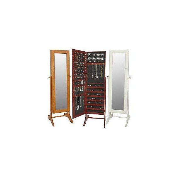 Gold & Silver Safekeeper Mirrored Jewelry Cabinet | Bedrooms ...