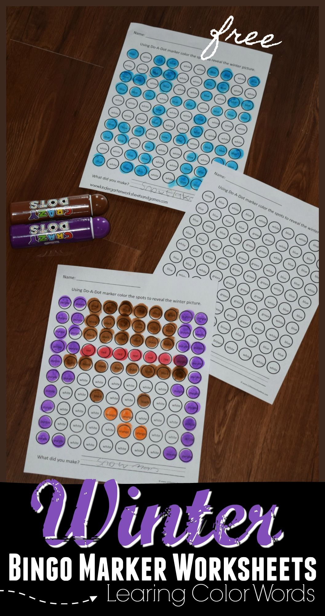 Free Winter Do A Dot Worksheets