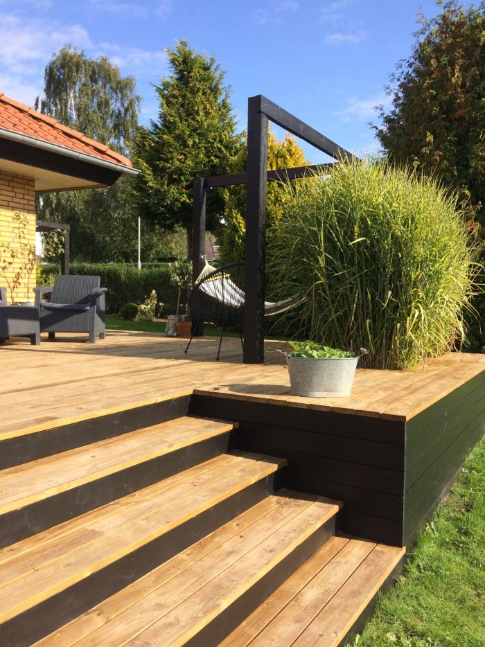 Attraktiv attraktive Dekoration Terrasse Dekor Hauteur jardinieres